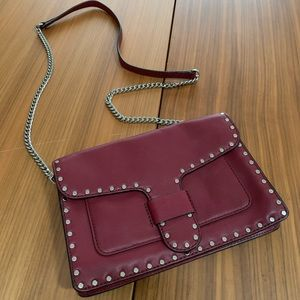 Rebecca Minkoff Mini Mac Red Studded Crossbody Bag